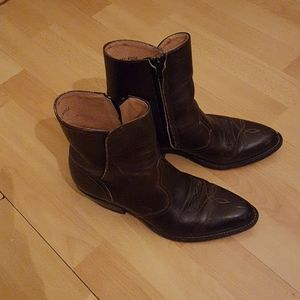 Boulet vintage leather ankle boots